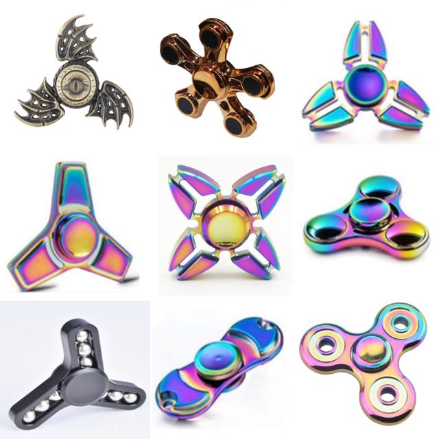 Rainbow Metal Tri Fidget Hand Spinner Finger Gyro Desk Toy EDC Focus ADHD Autism