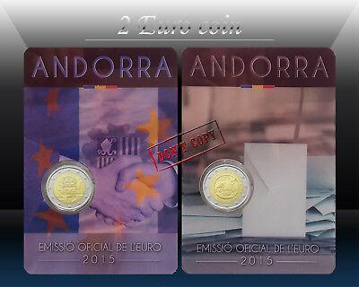 ANDORRA 2 EURO 2018 Commemor 25th anni. Andorran Constitution CoinCard * BU
