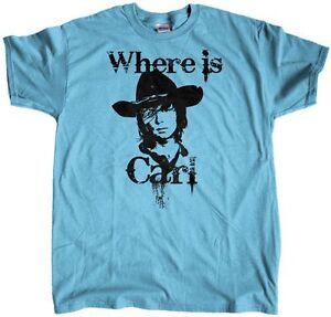 Men-039-s-Where-Is-Carl-Grimes-The-Walking-Dead-Regular-Fit-T-Shirt