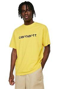 T-shirt-uomo-CARHARTT-WIP-S-S-Script-I023803-100-cotone-jersey-Col-Primula