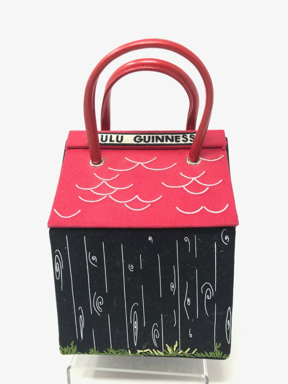 "RARE Lulu Guinness Bag Dog House Purse ""Beware of… - image 2"