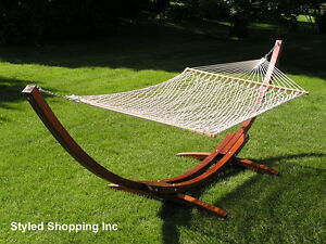 image is loading deluxe wood arc two person adult wood hammock  deluxe wood arc two person adult wood hammock stand set      rh   ebay