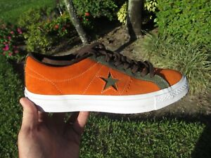 e35ec4eea12b2e Converse ONE STAR LOW OX MANDARIN ORANGE FIELD SURPLUS GREEN ...