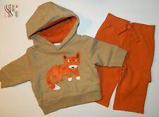 NWT GYMBOREE boys WILDERNESS LAKE Orange Tan FOX Pants Hoodie OUTFIT 3 6 months