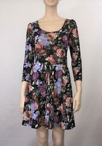 SPORTSGIRL-FIT-AND-FLARE-FLORAL-DRESS-SIZE-XS