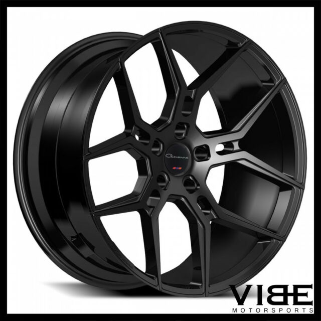 22 Giovanna Haleb Gloss Black Concave Wheels Rims Fits Tesla Model