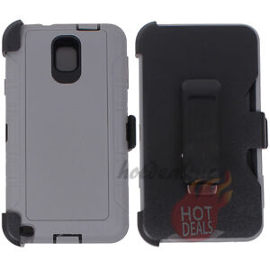 save off 29776 76957 Details about For Samsung Galaxy Note 3 Gray/Black Case Cover(Belt Clip  Fits OtterBox Defender