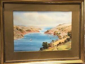 Early 20TH CENTURY...ORIGINAL...GARMAN  MORRIS...Watercolour Coastal Scene