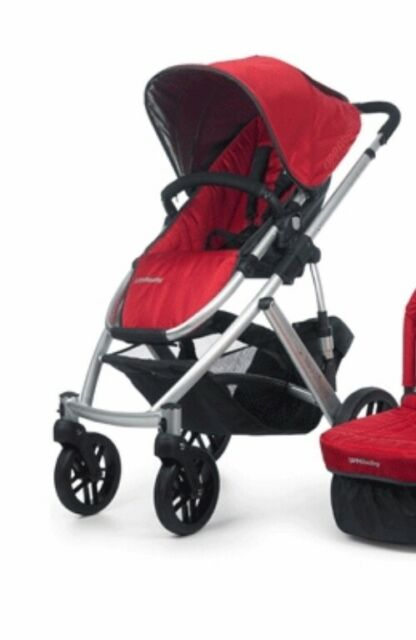 Uppababy Vista Stroller And Bassinet Denny Red New