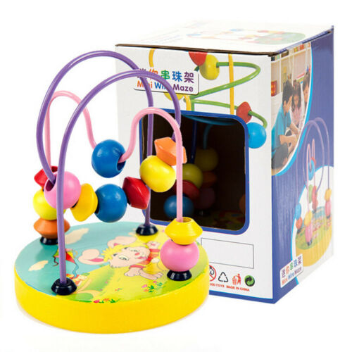 Baby Educational Wooden Around Beads Balls Toddler Intelligence Toy Gift Sale
