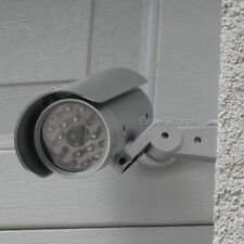 Outdoor Dummy Security Camera w  Motion Sensor & LIGHT Fake Surveillance