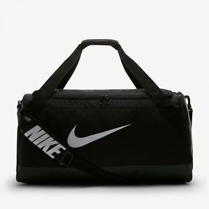 Nike bolsa de deportes Brasilia Medium Muletón negro blanco