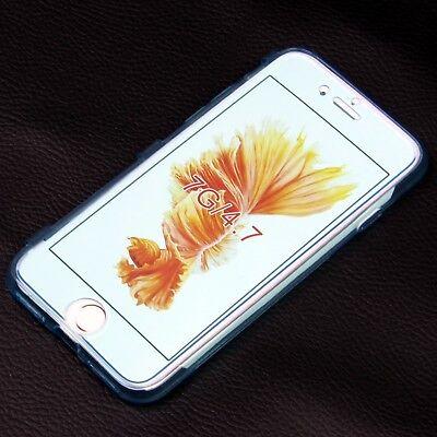 Flip Handy Hülle Cover Case Silikon Display Touch Schutz Tasche Bumper Schale