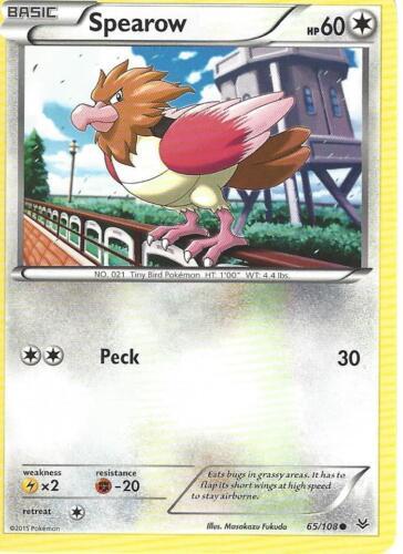 POKEMON XY ROARING SKIES CARD SPEAROW 65//108