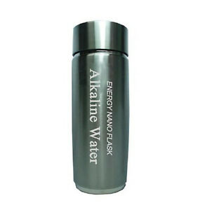 Silver-Alkaline-Energy-Flask-Ionizer-Water-Bottle-Cup-Booster-with-Free-Case-NEW