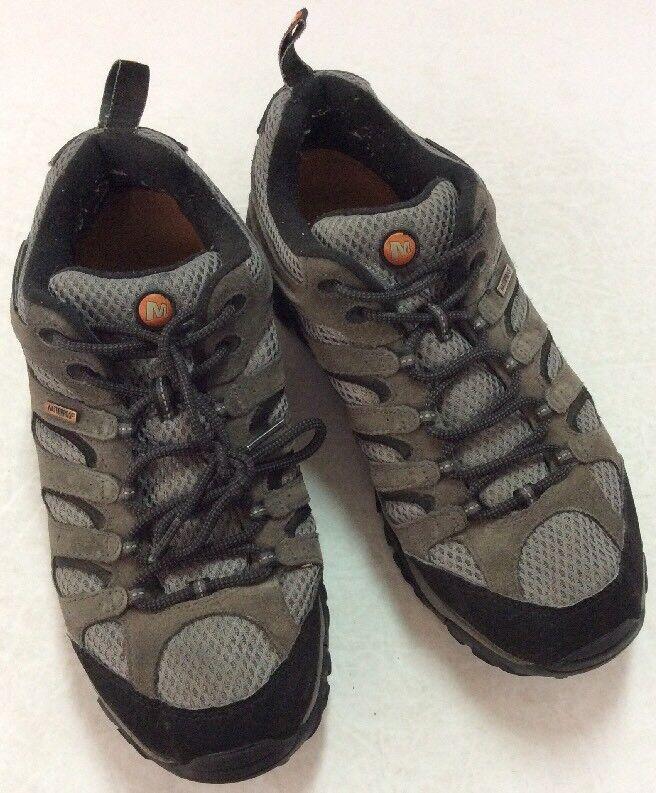 Men's Merrell Moab Waterproof Hiking Walking Shoe Beluga Grey J88629 Sz 10.5