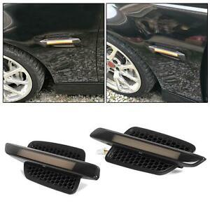 For 2008-2009 Pontiac G8 Black Smoke LED Light Bar Amber NEW Fender Side Markers