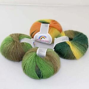 New-4Balls-x50g-Soft-Warm-Cashmere-Wool-Colorful-Rainbow-Shawl-Hand-Knit-Yarn-04