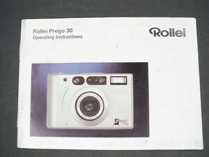 Rollei-Prego-30-Camera-Instruction-Book-Manual-User-Guide