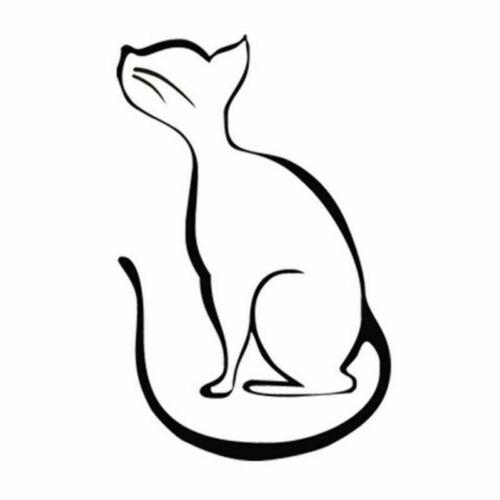Funny Cartoon Cat Car Laptop Window Door Bumper Motorcycle Vinyl Decal Sticker