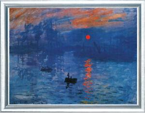 Claude-Monet-Impression-Sonnenaufgang-gerahmt
