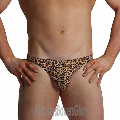 Thong Underwear NEW Mens Leopard Print Tarzan Pouch
