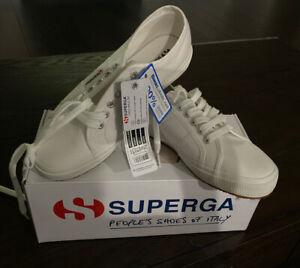 Brand-New-In-Box-Women-039-s-Superga-Classic-COTU-2750-Sneakers-Size-10-White