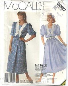 McCall-039-s-Misses-Dress-and-Belt-3087-UNCUT-C-10-12-14