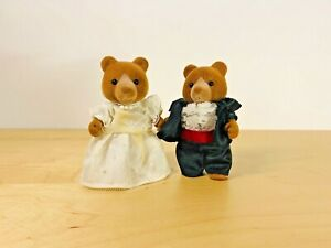 Sylvanian-Families-Hedges-Bear-Wedding-Edward-Primrose-Brown-Vintage-UK-1993