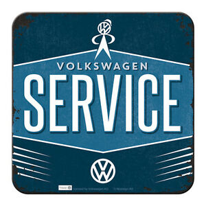 METALL UNTERSETZER VW SERICE VOLKSWAGEN 9x9cm COASTER 46144