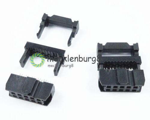 10PCS 2.54mm Pitch 2x5 Pin 10 Pin IDC FC Female Header Socket Connector FC-10