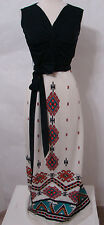 ALFRED SHAHEEN Rare Vintage 60's 70's Southwest Signed Painted Print Maxi Dress