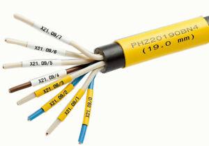 ZH201B Flat Printable Zero Halogen Low Fire Hazard Heat Shrink Tubing Markers