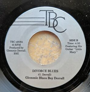 DETROIT-BLUES-45-GLEMMIE-BLUES-BOY-DERRALL-Glemie-Derrell-Divorce-Blues-TBC