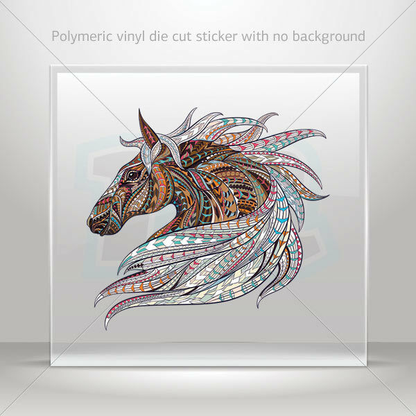 Decals Sticker Indian ethnic style ornamented lion head Vehicle st7 22597