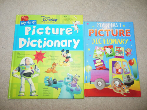 1 of 1 - 2 children books - My First Picture Dictionary & Disney First picture dictionary