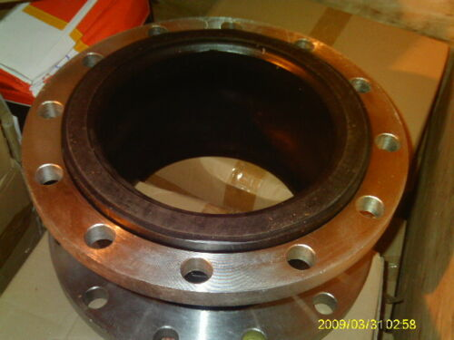 """10/"""" 150# FLANGE  X  8/"""" WIDE AMS SERIES SINGLE SPHERE RUBBER EXPANSION JOINT"""