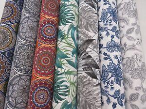 Designer-039-Classique-039-Mandala-amp-Flowers-Cotton-Canvas-Curtain-Fabric-Upholstery