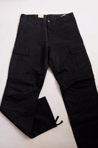 JEANS PANTALON CARHARTT REGULAR CARGO  PANT black rigid W33  L34  VAL120€