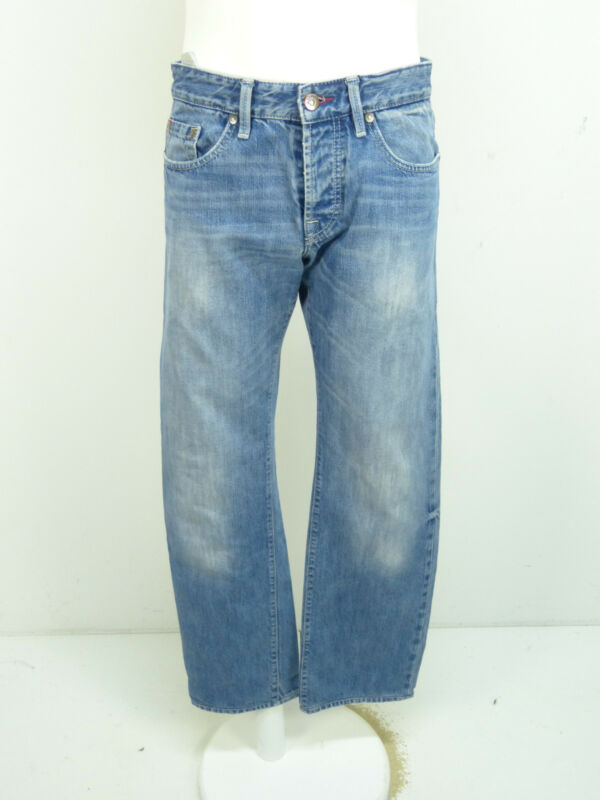 Hugo Boss Jeans W32 X L32 / Blau Mit Waschung ( O 3521 )