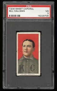 1909-11-T206-Bill-Hallman-Sweet-Caporal-350-Kansas-City-PSA-3-VG