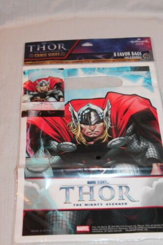 NEW IN PACKAGE THOR  8 PLASTIC LOOT BAGS  PARTY SUPPLIES