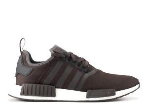 best sneakers cfef1 915af La foto se está cargando Adidas-NMD-R1-Malla-Oscuro-Gris-Negro-Blanco-