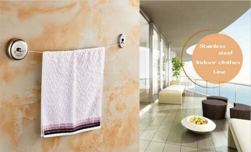 Stainless Steel Retractable Single Clothe 2.5m Line Dryer Indoor Outdoor Laundry