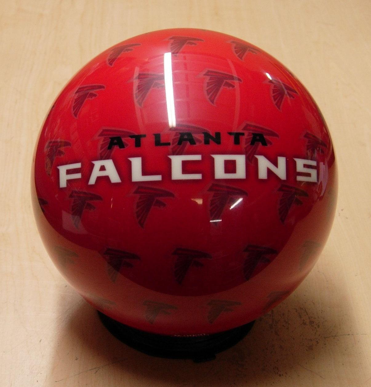 =8NOS NIB Undrilled Bowling Ball OTBB Viz-A-Ball RARE 2010 NFL Atlanta FALCONS