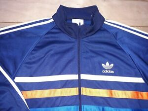 VINTAGE-1980s-ADIDAS-FIRST-TRACKSUIT-TOP-L-Schwahn-Europa-ATP-Gruber-Ventex-70s