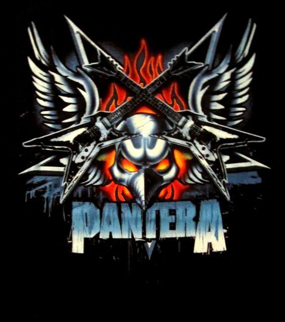 PANTERA cd lgo DEAN GUITAR WITH WINGS Official SHIRT SMALL New dimebag darrell