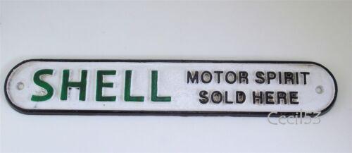 CAST IRON SHELL SIGN MOTOR SPIRIT AVDERTISEMENT SIGN