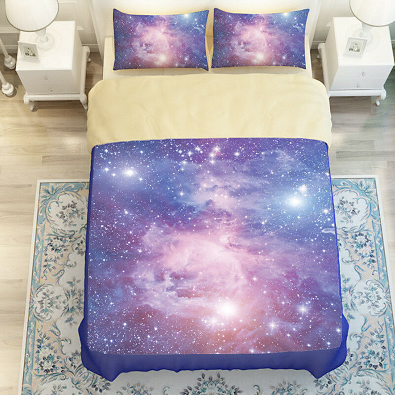 3D Starlight 806 Bed Pillowcases Quilt Duvet Cover Set Single Queen UK Kyra