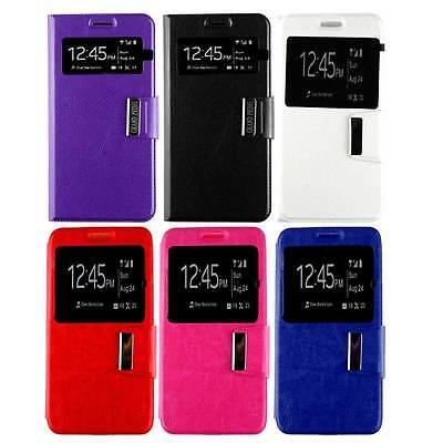 Housse Coque Étui Folio Fenêtre Samsung Galaxy Grand Prime | eBay